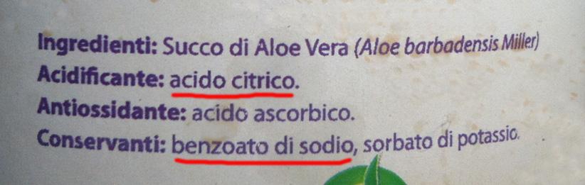 esempio ingredienti